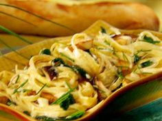 Get Fettuccini with King Oyster Mushrooms Recipe from Cooking Channel
