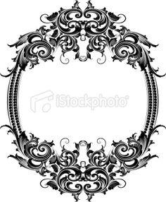 Scrolling Oval Frame Royalty Free Stock Vector Art Illustration