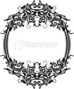 Scrolling Oval Frame Royalty Free Stock Vector Art Illustration