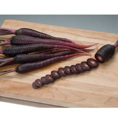 purple carrot--turns rich sable color when roasted, lighter purple when boiled