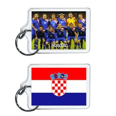 Croatia Soccer Flag 2014 Team Player Acrylic Keychain 2 x 1 | www.balligifts.com