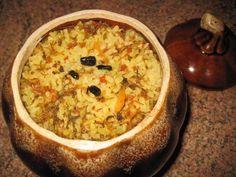 Ароматный рис в горшочках