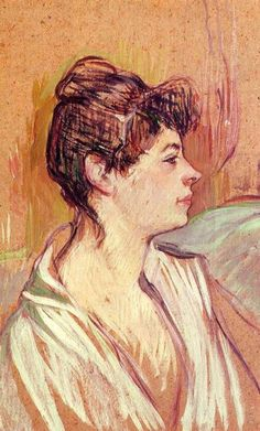 Henri De Toulouse-Lautrec | Portrait of Marcelle - Henri de Toulouse-Lautrec - WikiPaintings.org