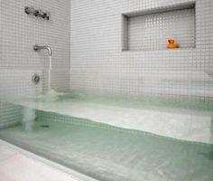 interior design, home decor, bathrooms, tubs, glass