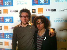 #Carapez del Jay Rivera con Luis Del Valle, antes del concierto UNICEF en Hard Rock Café Madrid. #Fishface