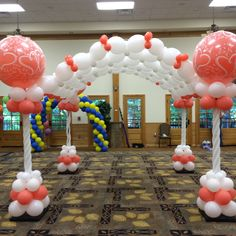 Balloon columns with arches