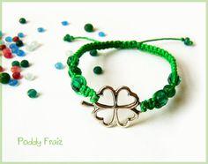 Bracelet Four Leaf Clover  Green Tassel Pendant Necklace Boho Gift for Girl Mom Women clover trends