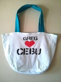 OKA BAG -Light Blue+White // 100% Handmade // Repurposed // Upcycled // Reversible // Large Tote Bag // Grocery Bag // Book Bag // Beach Bag