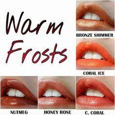 Lipsense warm frosts www.senegence.com/AZGlamGirl
