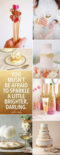 Golden Inspiration Board from Rock My Wedding