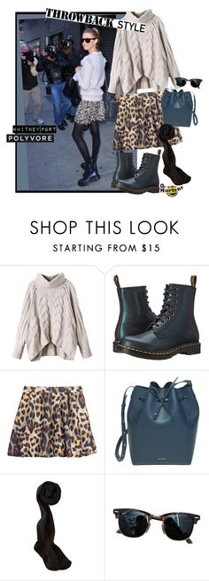 """Throwback Style: Dr. Martens"" by elafashionable ❤ liked on Polyvore featuring Dr. Martens, H&M, Mansur Gavriel, Ray-Ban and DrMartens"