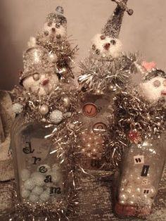 Snowmen bottles- soooo cute!