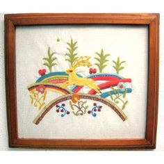 Deer Hills Plants Embroidery now featured on Fab.