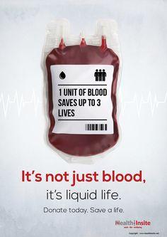 It's not just blood, it's liquid life.