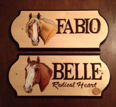 Belle and Fabio stall sign