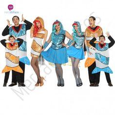 Disfraz #Pez Azul para mujer #disfraces para #grupos #comparsas en #mercadisfraces.es tu #tienda de #disfraces #online