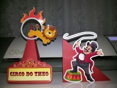 Cone e porta guardanapo tema Circo.... Circo Vintage, Cone, Birthday Candles, Mary, Napkin, Fiestas