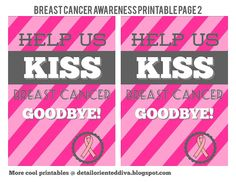 Breast Cancer Awareness Printables (she: Natalie) - Or so she says...