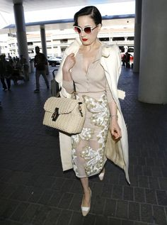 f8a9e2bb6 Model Dita Von Teese catches a flight out of LAX Airport on May 20, 2014