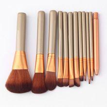 12 Pcs Ferramentas de Maquiagem Kit Cosméticos Eyeshadow Fundação Concealer Brushes Set Venda Quente alishoppbrasil