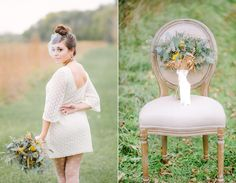 Floral design the Ivy League, Dress: Ruche - woodland wedding styled shoot jenny haas photography