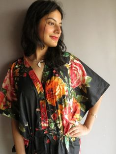 Cozy Kaftan Style made From D8 Fabric Pattern