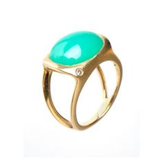 Chrysoprase Cabachon Ring from Eliza Page!