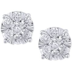 Effy Diamond Stud Earrings (1-5/8 ct. t.w.) in 14k White Gold ($6,299) ❤ liked on Polyvore featuring jewelry, earrings, accessories, white gold, diamond jewellery, 14 karat gold stud earrings, 14k diamond earrings, round stud earrings and diamond jewelry