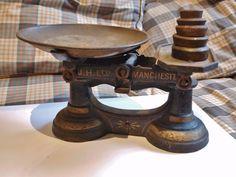 Antique Globe balance scales J. H. Ltd Manchester