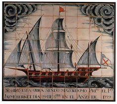 bergantina,mosaico en la Capilla de  San Telmo de Palma.