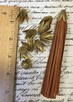 2 Tassel Caps end cap bead capgold matte by AlteredArtSupply Decorative Leaves, Leather Tassel, Bead Caps, Matte Gold, Jewelry Findings, Jewelry Ideas, Antique Silver, Tassels, Shapes