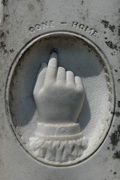 """""""Gone - Home"""" - infant's grave"""