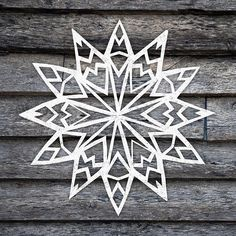 Hand cut mountain paper snowflake #papersnowflake #snowflake #snowflakes #papersnowflakeart #art #handcut #handmade #homemade #diy Paper Snowflake Template, Paper Snowflake Patterns, Snowflakes Art, Diy Paper, Paper Cutting, Mountain, Homemade, Artist, Prints