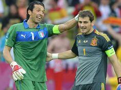 Buffon en Casillas ontmoeten elkaar in de groepswedstrijd en de finale van Euro 2012.
