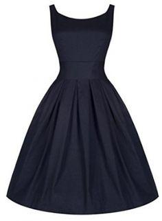 Chic Vintage Navy Dress w/ Waspie Belt