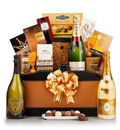 The Royal  Champagne Gift Basket - choice of champagne.  An elegant gift basket that's sure to impress!