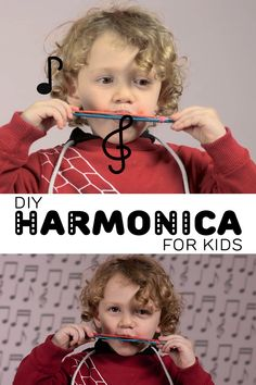 DIY Harmonica for Kids – Make Your Very Own Musical Instrument A simple and fun way to create your very own harmonica. A great way to play while learning about the science of sound! All you need is: ~Craft sticks ~Scissors ~Paper ~Rubberbands ~Toothpicks Instrument Craft, Homemade Musical Instruments, Making Musical Instruments, Music For Kids, Diy For Kids, Good Music, Theme Nouvel An, Preschool Music Activities, Preschool Learning