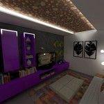 Decoração de sala rústica e moderna
