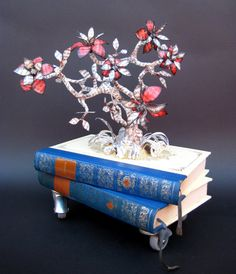 Book Sculpture - Paper Art - The Autumn Tree by MalenaValcarcel