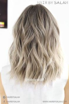 Light Ash Blonde Balayage - Lob Hair Styles for Thick Hair 2017