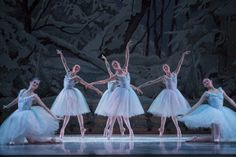 snowflakes in PNB Nutcracker / photo: Angela Sterling