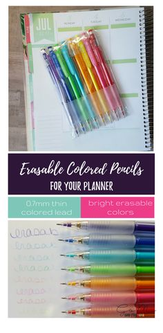 erasable colored pencils for planners! I've been looking for these!