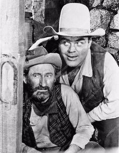 photo Dan Blocker Arthur Hunnicutt from TV western show Bonanza 3090-17