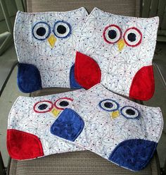 Hey, I found this really awesome Etsy listing at https://www.etsy.com/listing/95825797/placemats-4th-of-july-owls-red-white-and