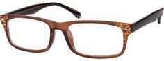 Unisex Brown 2821 Plastic Full-Rim Frame | Zenni Optical Glasses-vg8II4h5