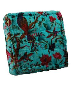 Another great find on #zulily! Blue & Red Tropical Print Floor Cushion #zulilyfinds