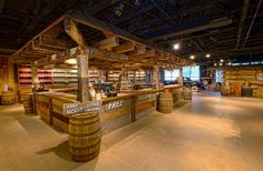 free taste test counter at the Ole Smoky Moonshine Distillery - Gatlinburg, TN