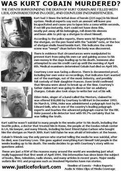 CRIME SCENE Kurt Cobain Death Photos, Kurt Cobain Quotes, Nirvana Kurt Cobain, Nirvana Quotes, Kurt Cobain's Death, Donald Cobain, Truth And Justice, Smells Like Teen Spirit, Janis Joplin