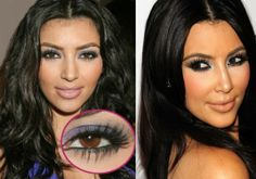 Eyelashes_ kim kardashian makeup tips