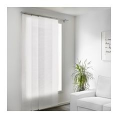 IKEA - FÖNSTERVIVA, Panel curtain, , A panel curtain is ideal to use in a layered window solution, to divide rooms or to cover open storage solutions.